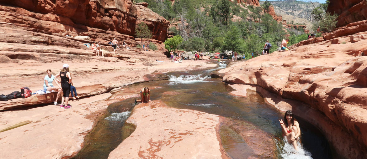 Sliding at Slide Rock State Park + Tips