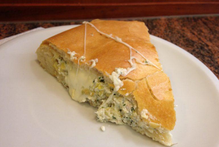 Carciofa (artichoke cake) at Pepen in Parma, Italy